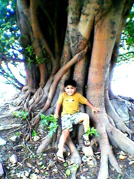 Nephew felt so good, relaxed and free in the Nature's lap when I took him to 'Amma ki Dukaan'.