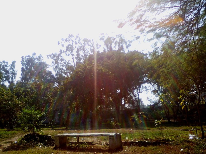 The aura, blessings and this bench is no more accessible. Now its inside the barbed wires beside the hostel.