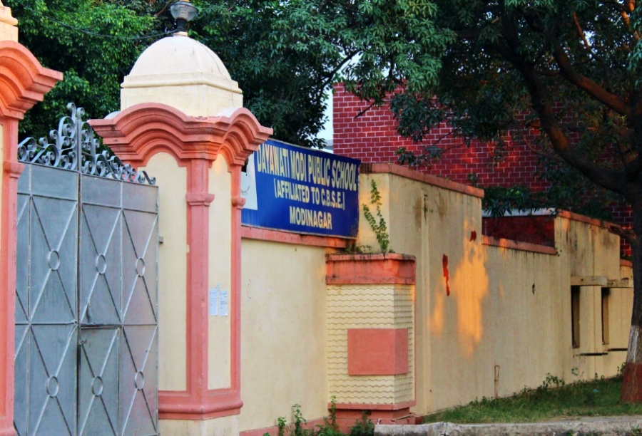 A well known school in Modinagar in the same compound of 'Amma ki Dukaan'.