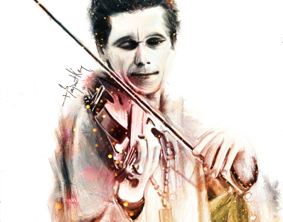 The violin man