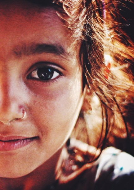That smile of Hope on her lips, a light so pure in her eyes, yes, she won this world. - Hardik Gaurav