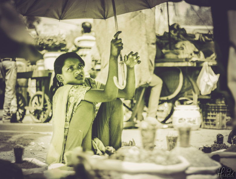 There's a very distinctive quality about being in desperate need, for money, for food, for survival & that's what makes you work hard, even in the scorching sun, in the middle of the burning summer, irrespective of age, irrespective of gender, but that need, needs to be fulfilled anyhow. - Hardik Gaurav